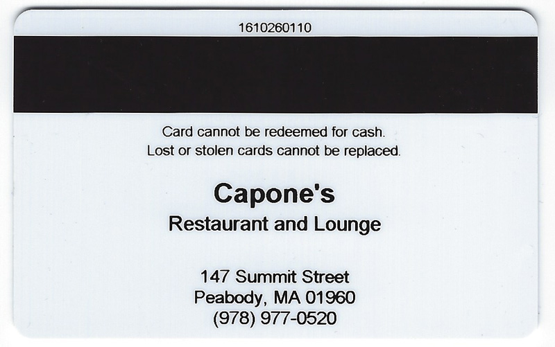 Capone S Gift Card
